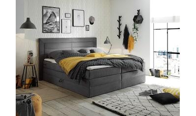 Boxspringbett »Saba«, (6 tlg.), inkl. zwei Bettkästen und Topper kaufen