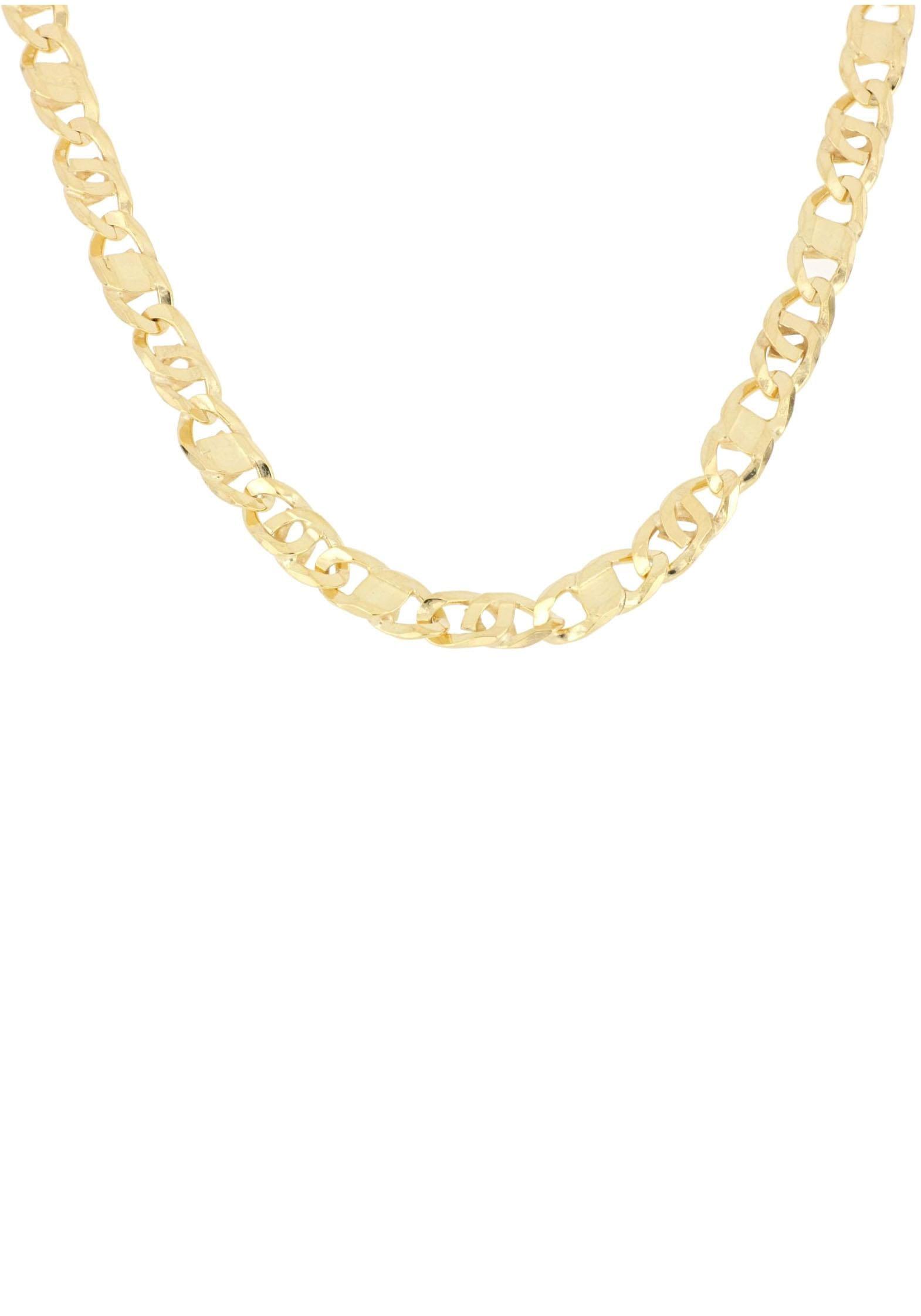 Firetti Goldkette in Achter-Rebhuhn-Plättchenkettengliederung 6-fach diamantiert poliert konkav | Schmuck > Halsketten > Goldketten | Goldfarben | Firetti