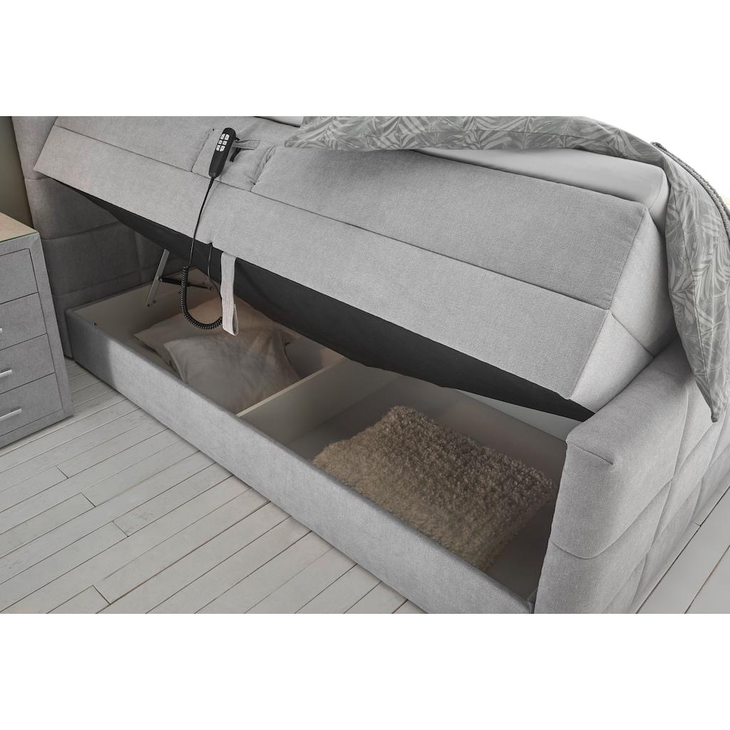 Polsterbett »Kairo«, (5 St.), inkl. Motor und zwei Bettkästen