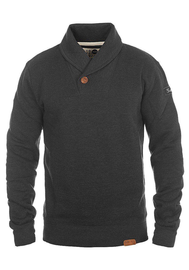 Solid Sweatshirt »TripShawl« | Bekleidung > Sweatshirts & -jacken > Sweatshirts | Grau | Fleece | SOLID