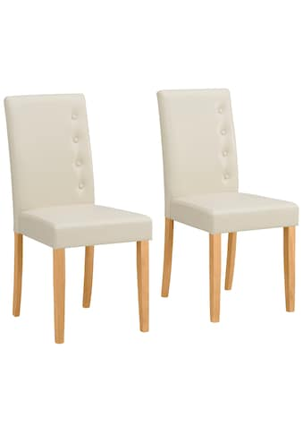 Home affaire Esszimmerstuhl »Boca«, 2er Set, mit einem schönen pflegeleichten Kunstlederbezug, wahlweise mit unterschiedlichen Beinfarben erhältlich, Sitzhöhe 47 cm kaufen