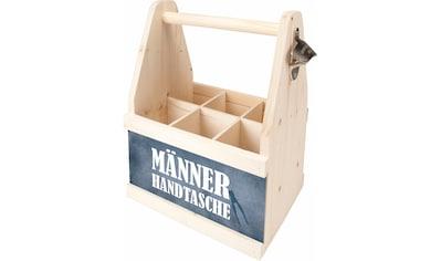 Contento Flaschenkorb »Männer Handtasche«, (1 tlg.), aus europäischem Holz kaufen