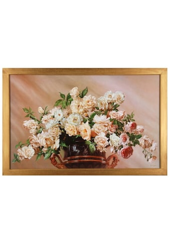 Home affaire Wandbild »White Roses«, 90/60 cm kaufen