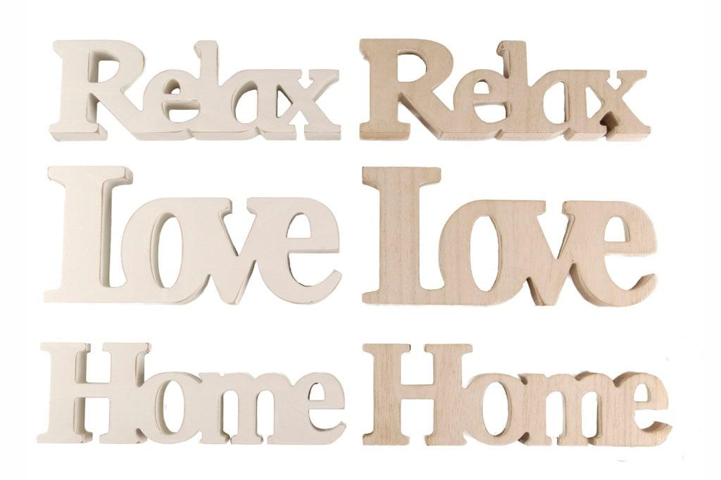 Heim INTERIOR & SEASONAL DESIGN Hängedekoration, Schriftzug braun Wanddekoration Deko Wohnaccessoires Hängedekoration