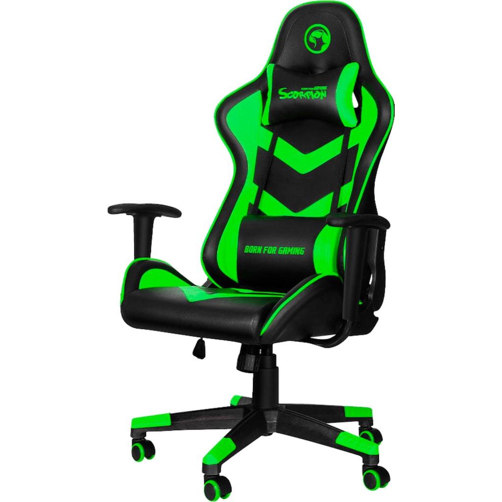 MARVO Gaming-Stuhl »CH-106 - ergonomisch, höhenverstellbar, Officestuhl, Schreibtischstuhl, Drehstuhl, 2D-Armlehnen, Stahlrahmen, Kunstleder«