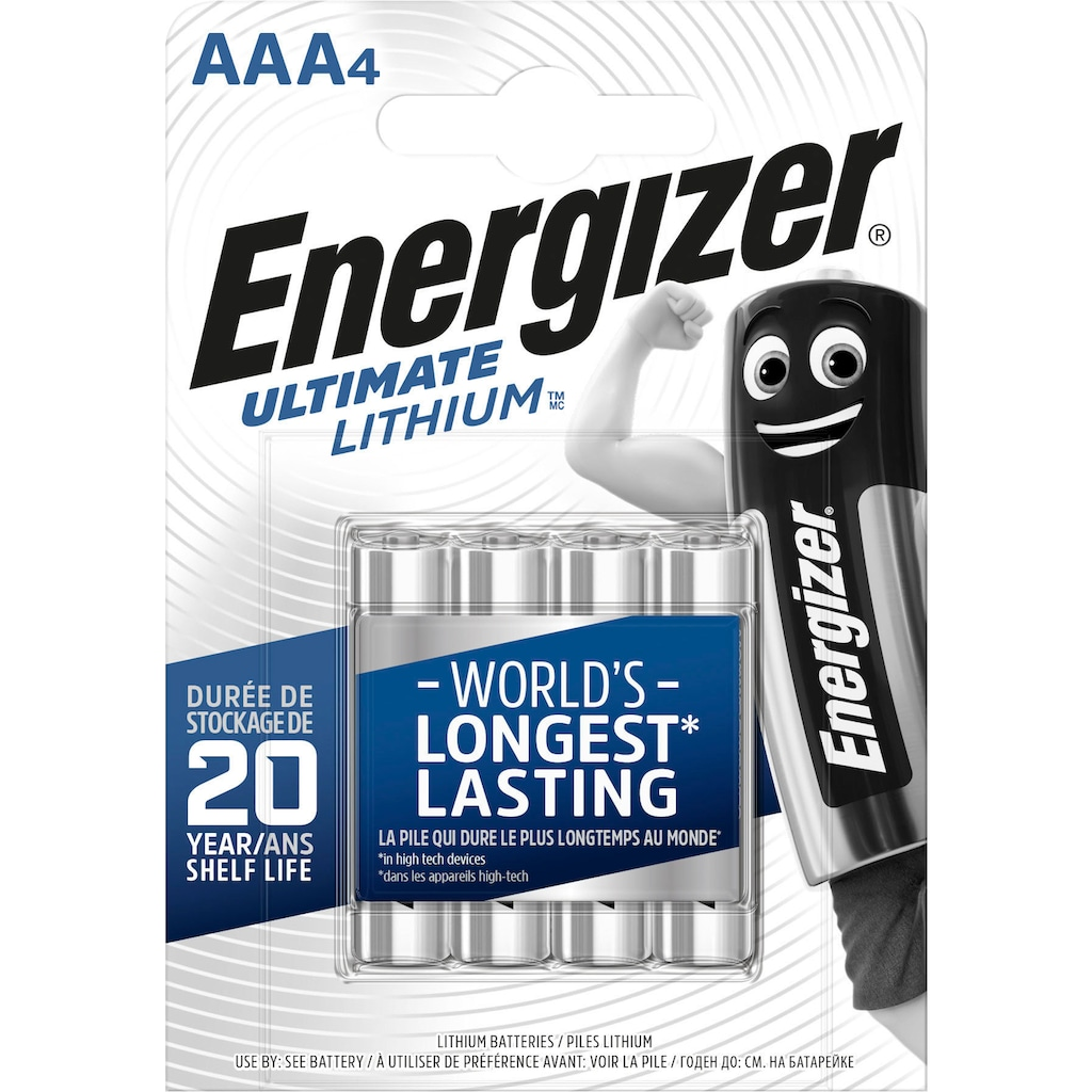 Energizer Batterie »Ultimate Lithium Micro (AAA) 4 Stück«