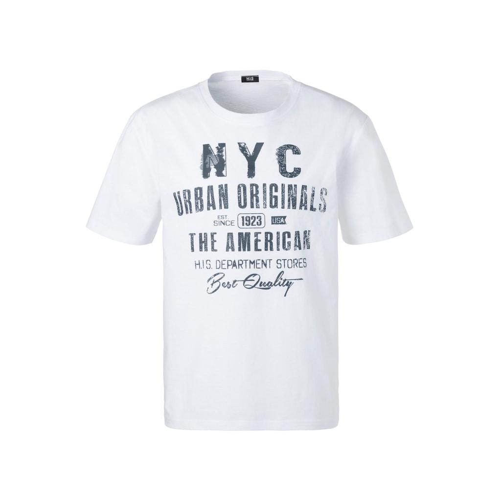 H.I.S T-Shirt »Homewear«, mit NYC Frontprint