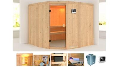 KONIFERA Sauna »Horsta 3«, 231x231x198 cm, 9 kW Bio - Ofen mit ext. Steuerung kaufen