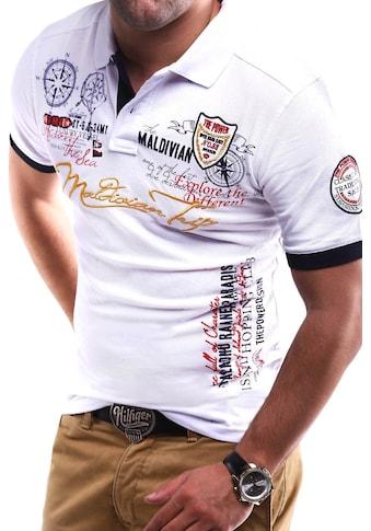 behype Poloshirt »TRIP«, in Piqué-Qualität kaufen