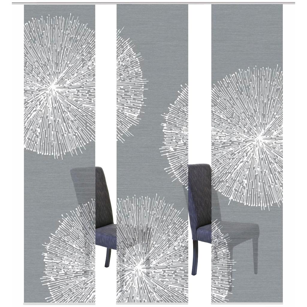 Vision S Schiebegardine »3ER SET CRESTON«, HxB: 260x60, Schiebevorhang 3er Set Digitaldruck