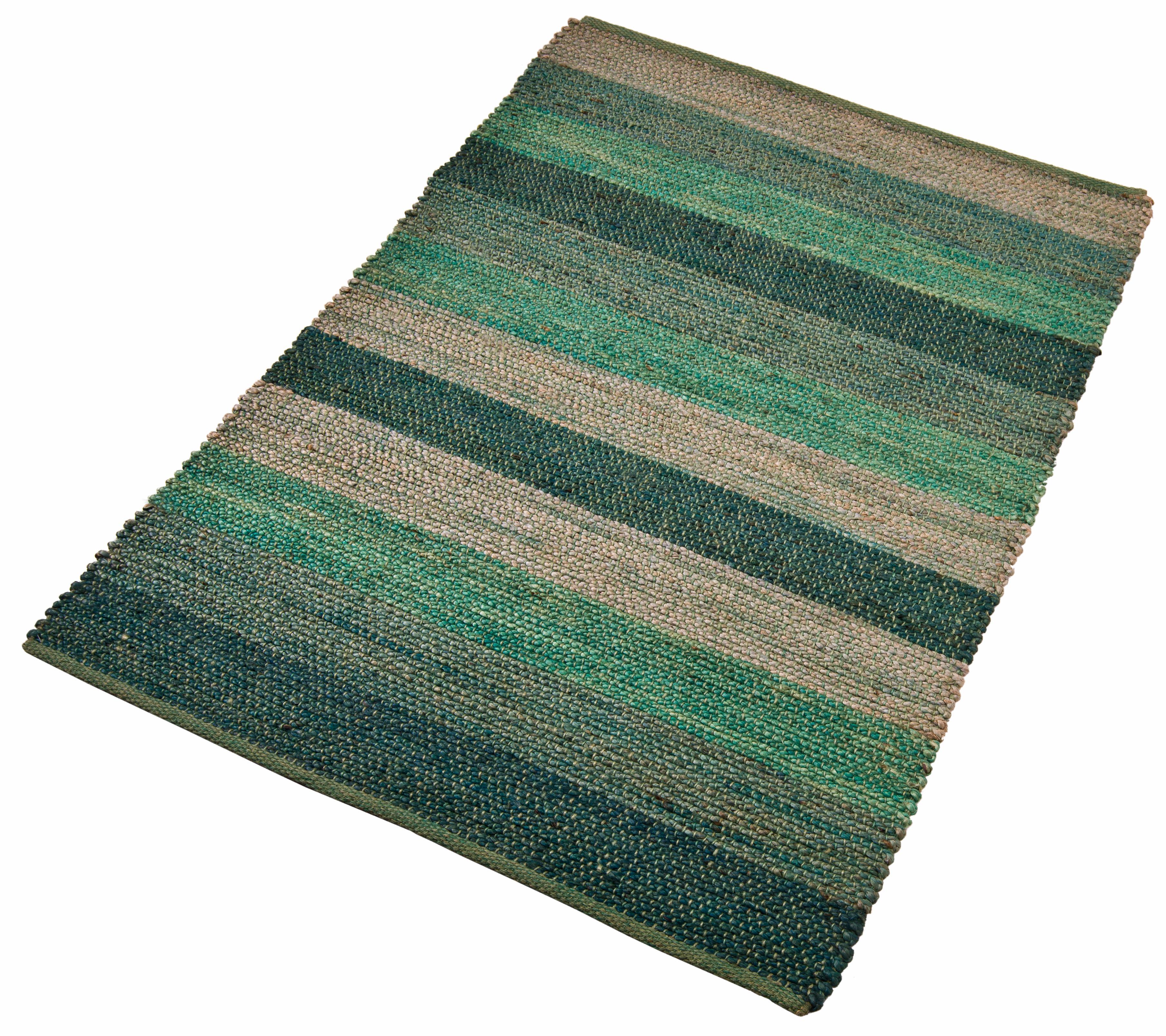Teppich Hanf Stripe Home affaire rechteckig Höhe 5 mm handgewebt