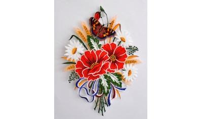 Stickereien Plauen Fensterbild »Herbstblumenstrauß« (1 Stück) kaufen