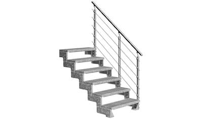 Dolle Außentreppe »Gardentop«, Gitterroststufen 80 cm kaufen