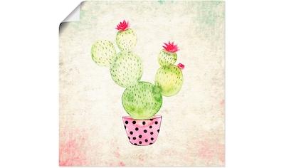 Artland Wandbild »Kaktus in Love Lustige Kaktus« kaufen