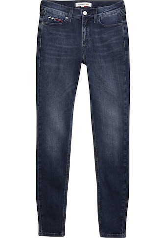Tommy Jeans Skinny-fit-Jeans »NORA MR SKNY ABBS«, mit Tommy Jeans Logo-Badge & Stickerei kaufen