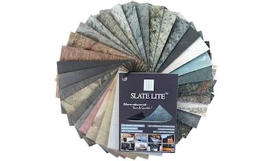 Slate Lite Dekorpaneele »Muster Slate Lite«, Musterset aus Echtstein kaufen