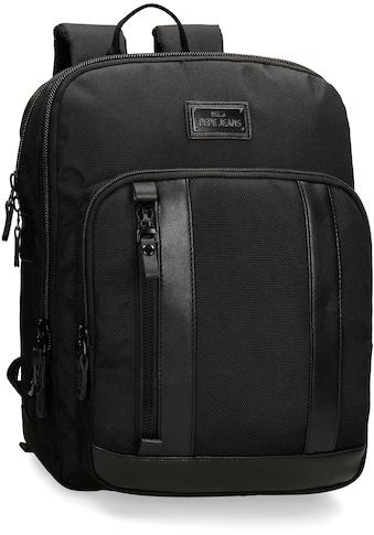 Pepe Jeans Laptoprucksack »Allblack, schwarz« kaufen