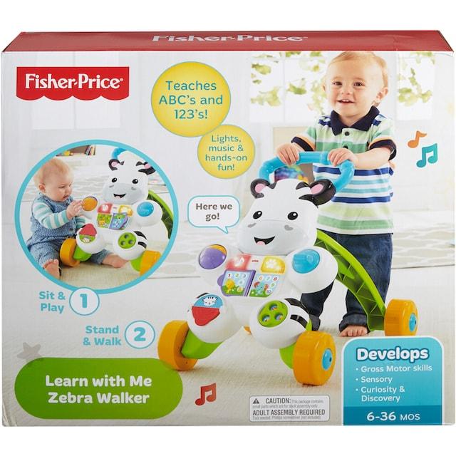 """Fisher-Price® Lauflernhilfe """"Lern mit mir Zebra Lauflernwagen"""""""
