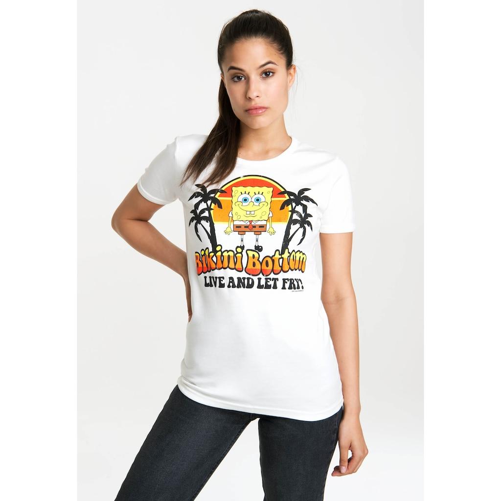 LOGOSHIRT T-Shirt »Spongebob – Bikini Bottom«, mit lizenzierten Originaldesign