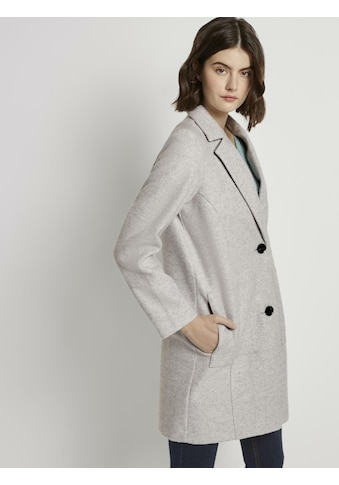 TOM TAILOR Denim Langmantel »Blazer-Mantel aus Fleece« kaufen