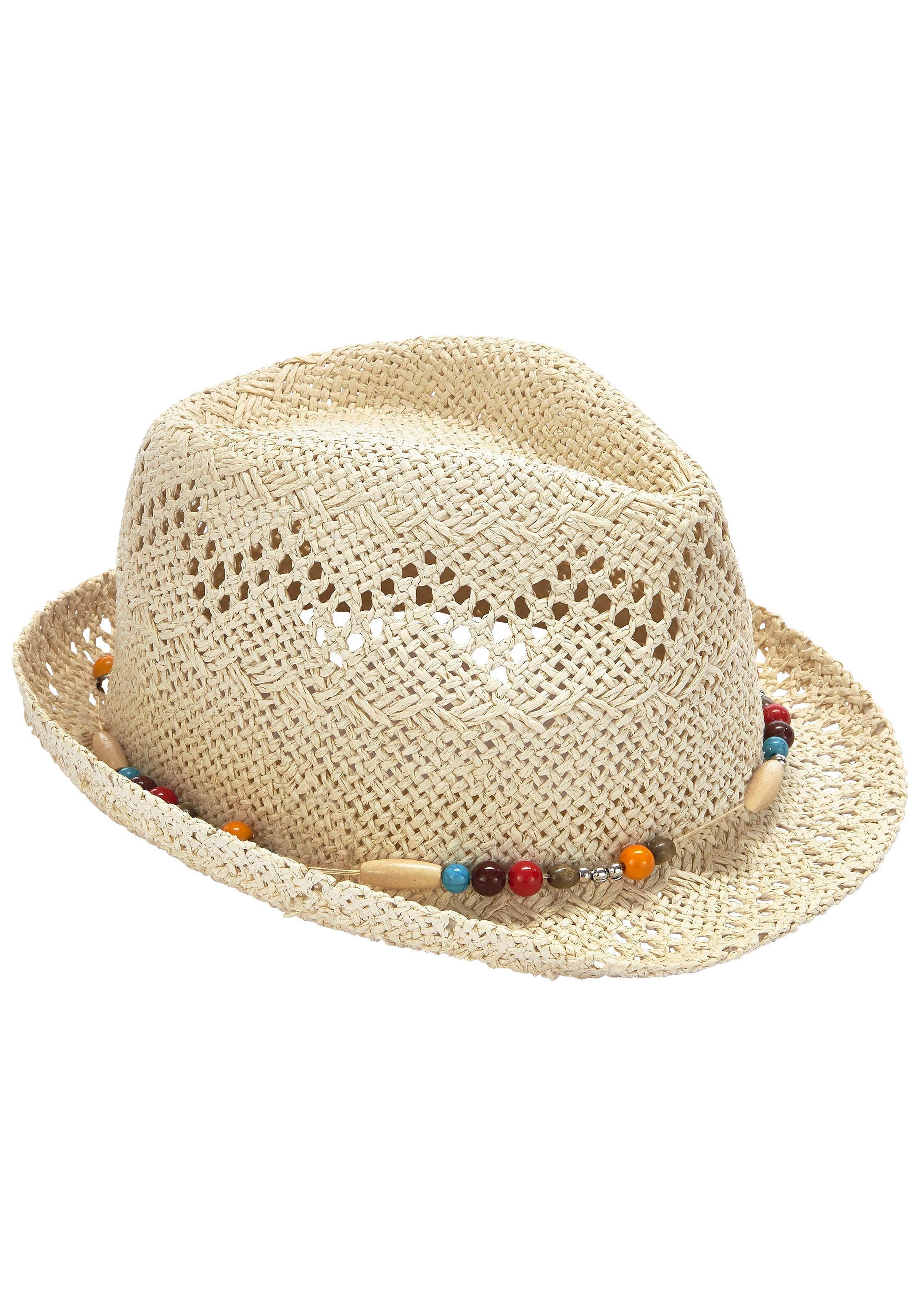 LASCANA Strohhut | Accessoires > Hüte | Weiß | Lascana