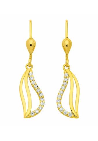 Adelia´s Paar Ohrhänger »333 Gold Ohrringe / Ohrhänger mit Zirkonia«, 333 Gold... kaufen