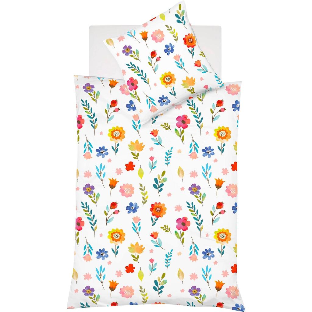 fleuresse Wendebettwäsche »Bed Art S«, mit leuchtenden Blumen