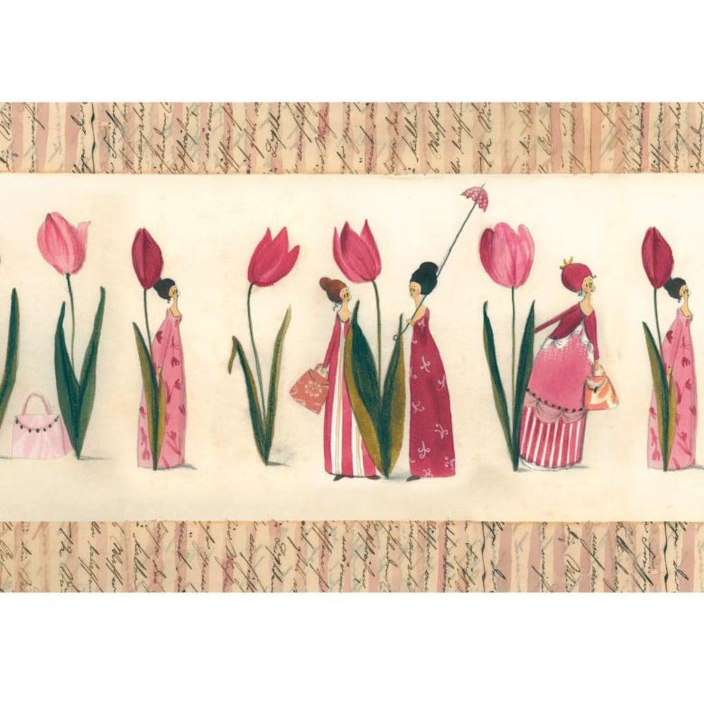 Wall-Art Wandtattoo »Schlafzimmer Bordüre Tulpen«