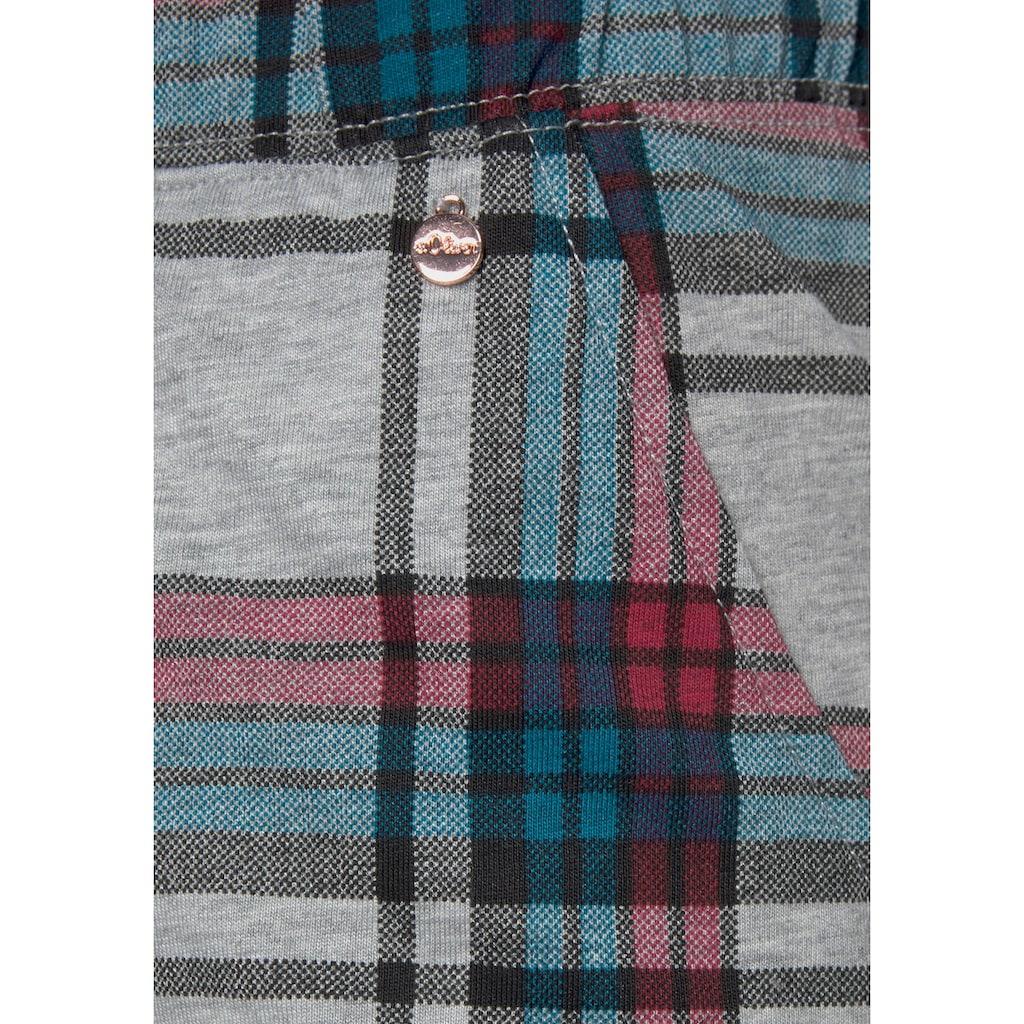 s.Oliver Bodywear Schlafshorts, im Allover-Muster mit Kräuselsäumen