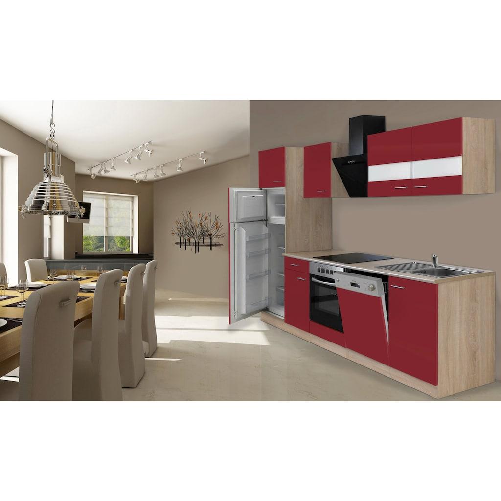 RESPEKTA Küchenzeile »Hamburg«, mit E-Geräten, Breite 280 cm