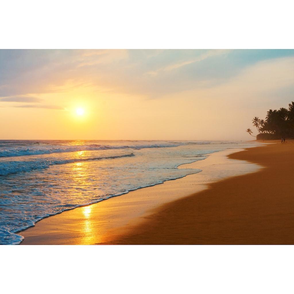 Papermoon Fototapete »Sri Lanka Beach Sunset«