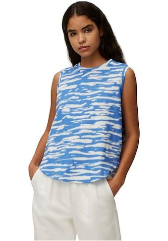Marc O'Polo DENIM Rundhalsshirt, in modischer Batik-Optik ohne Ärmel kaufen