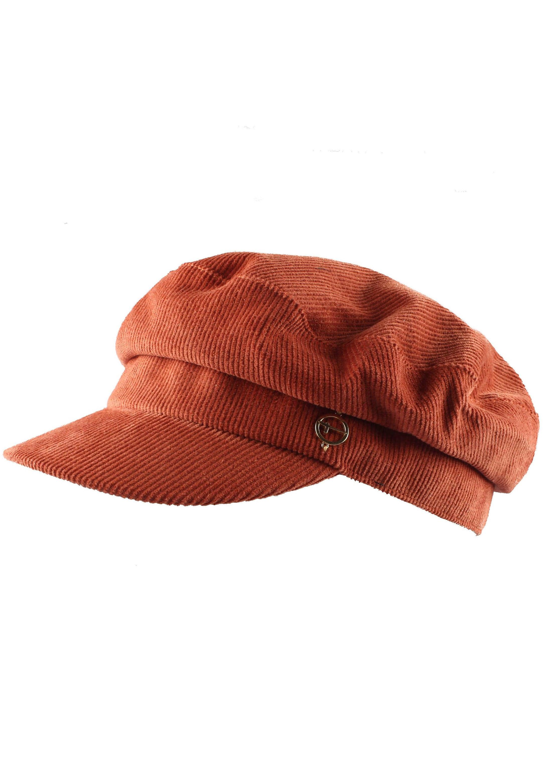 Tamaris Schirmmütze, Elbsegler aus Cord orange Damen Schirmmütze