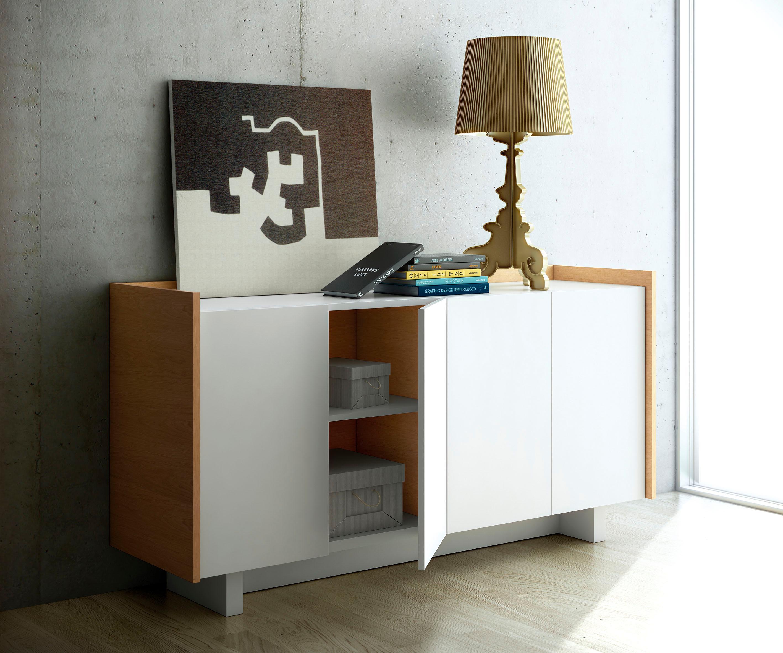 INOSIGN Sideboard »Skin«, im moderner Holzoptik und schönem Design, Breite 161 cm