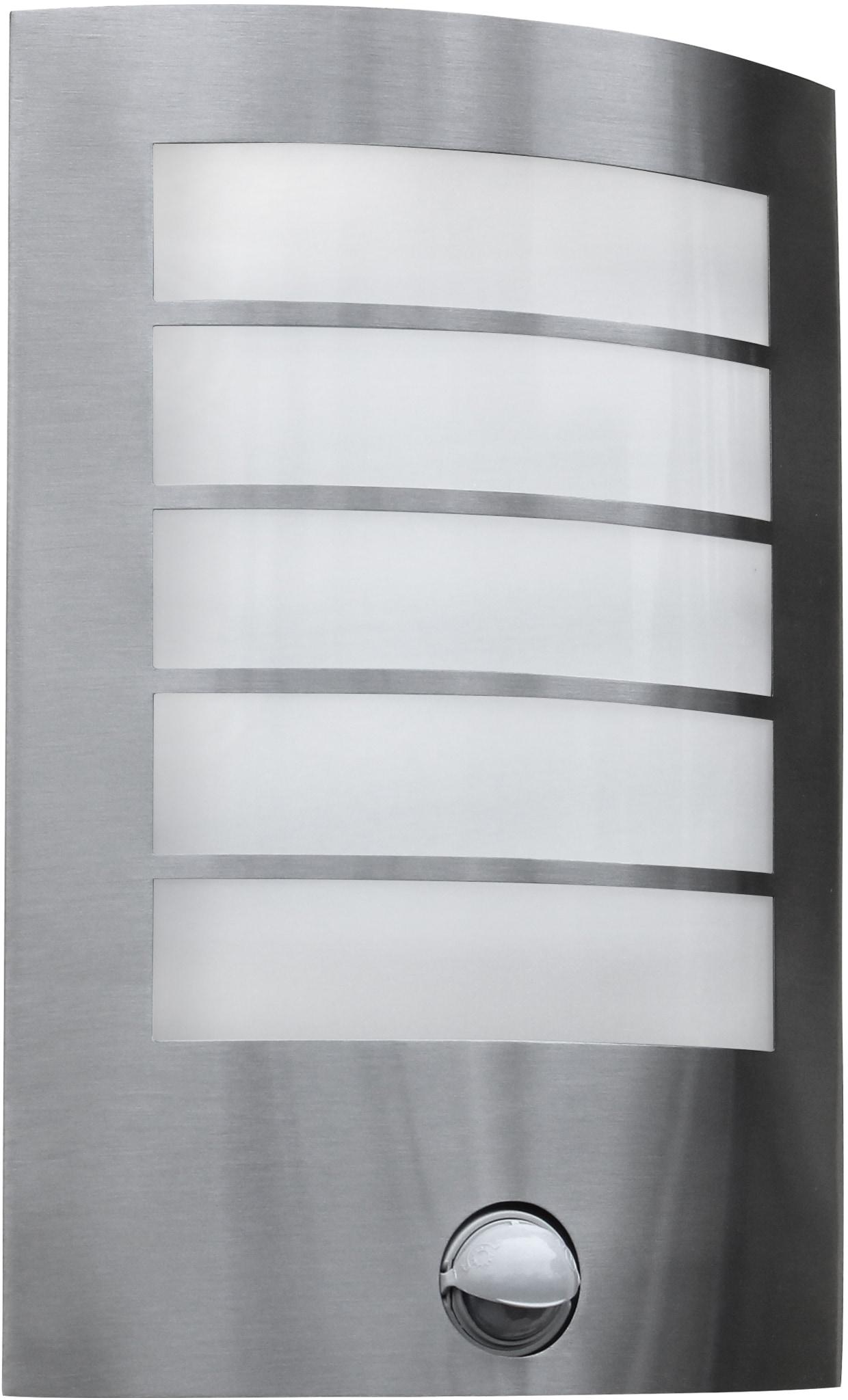 LUTEC LED Außen-Wandleuchte SLIM ST5001-PIR, LED-Modul, 1 St., Warmweiß, Bewegungsmelder