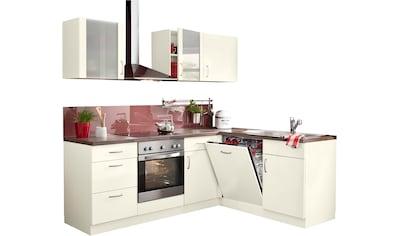 wiho Küchen Winkelküche »Brüssel«, mit E-Geräten, Stellbreite 220 x 170 cm mit 38 mm... kaufen