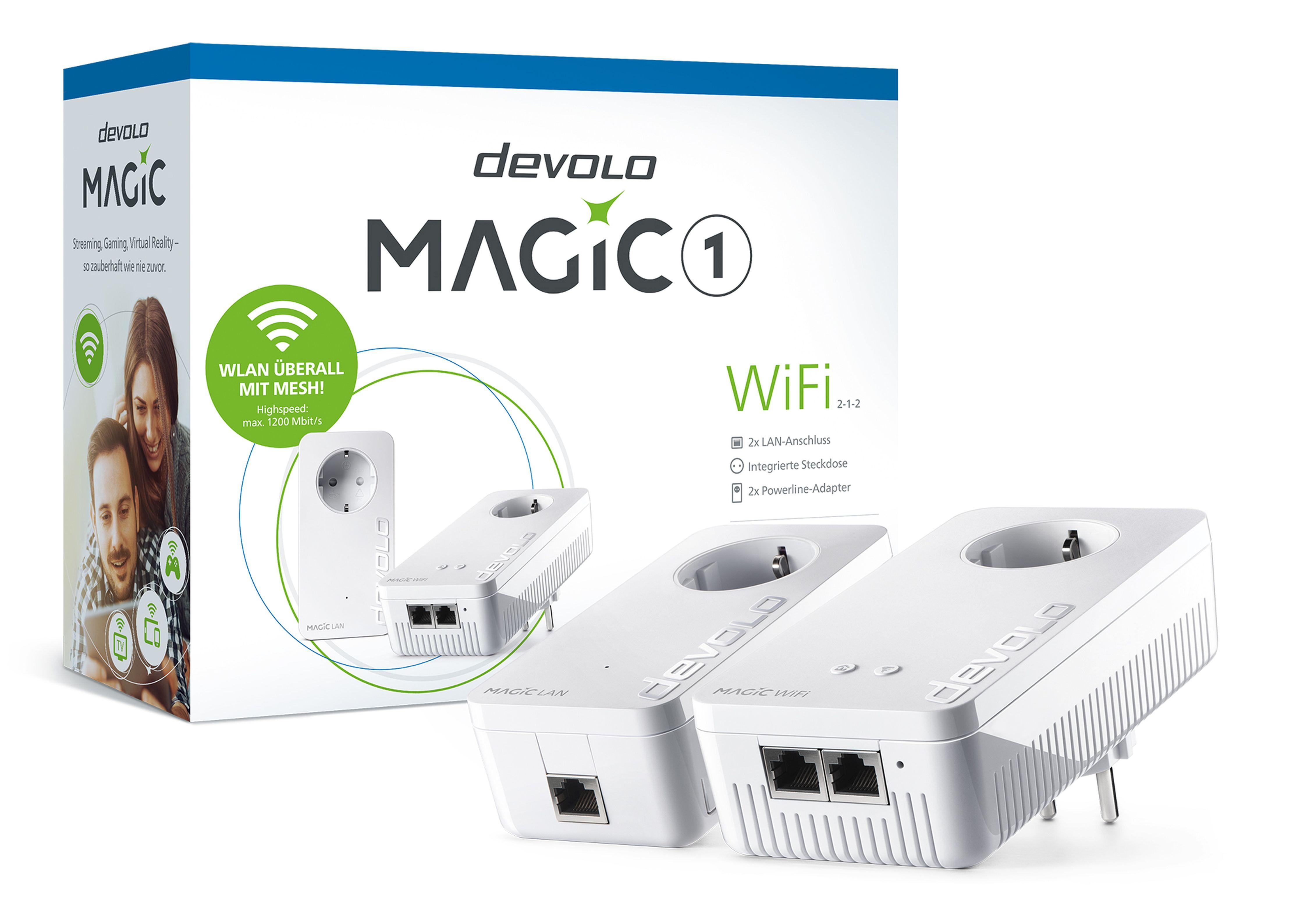 DEVOLO WLAN-Router »(1200Mbit, Powerline + WLAN, 3x LAN, Mesh)«, !Magic 1 WiFi ac... kaufen