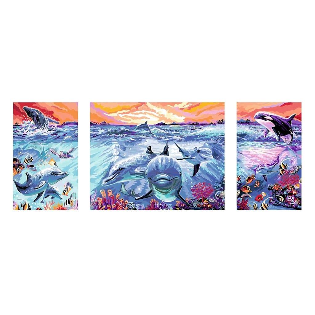 Ravensburger Malen nach Zahlen »Farbenfrohe Unterwasserwelt«, Made in Europe, FSC® - schützt Wald - weltweit