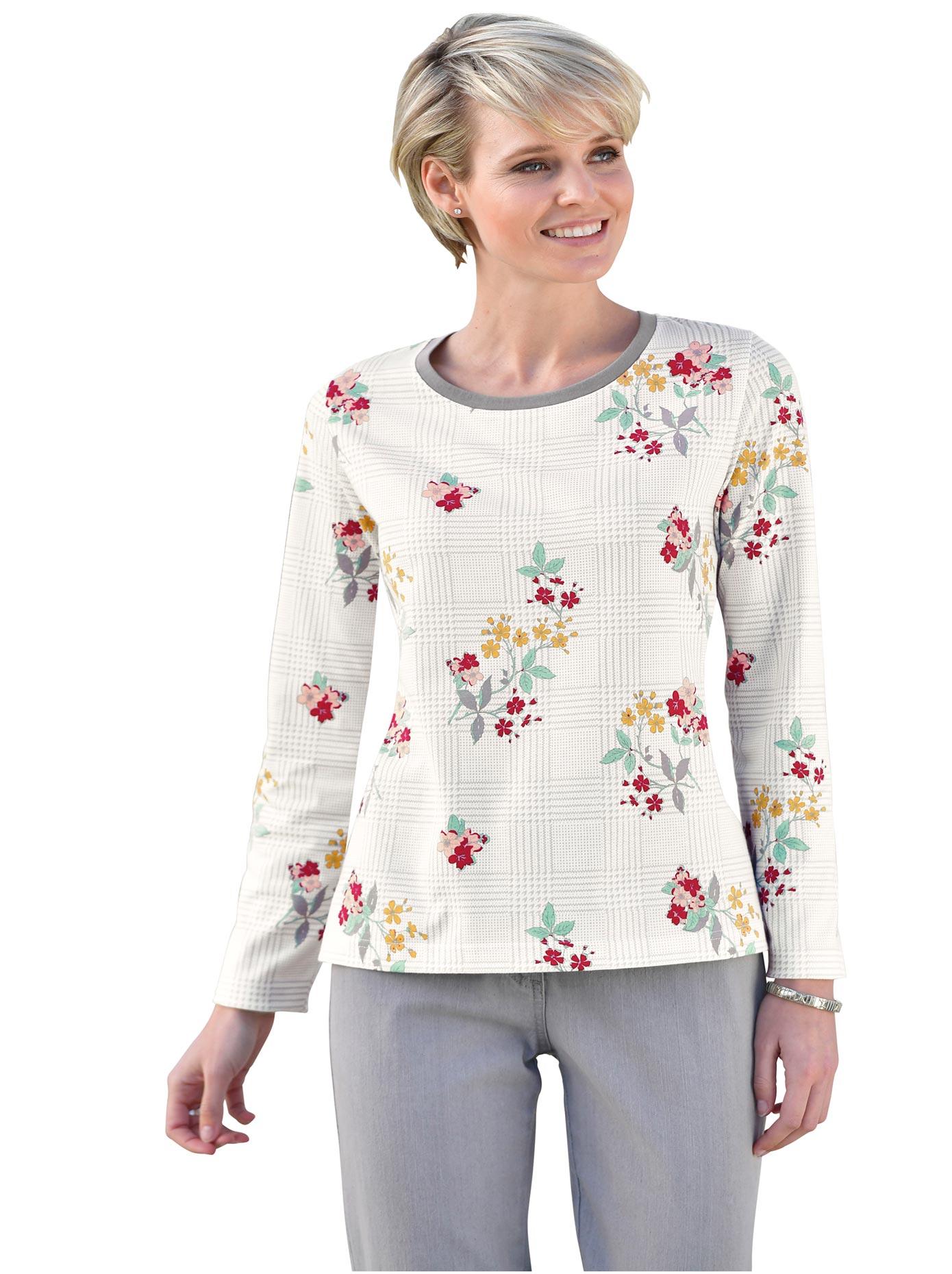 classic basics - Shirt mit floralem Druck