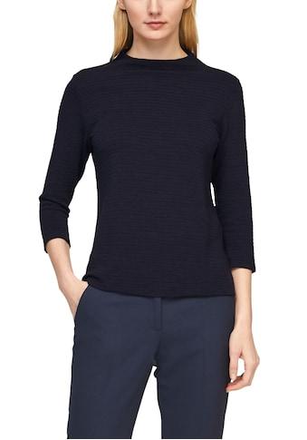 s.Oliver BLACK LABEL Langarmshirt, mit Struktur und Stehkragen kaufen