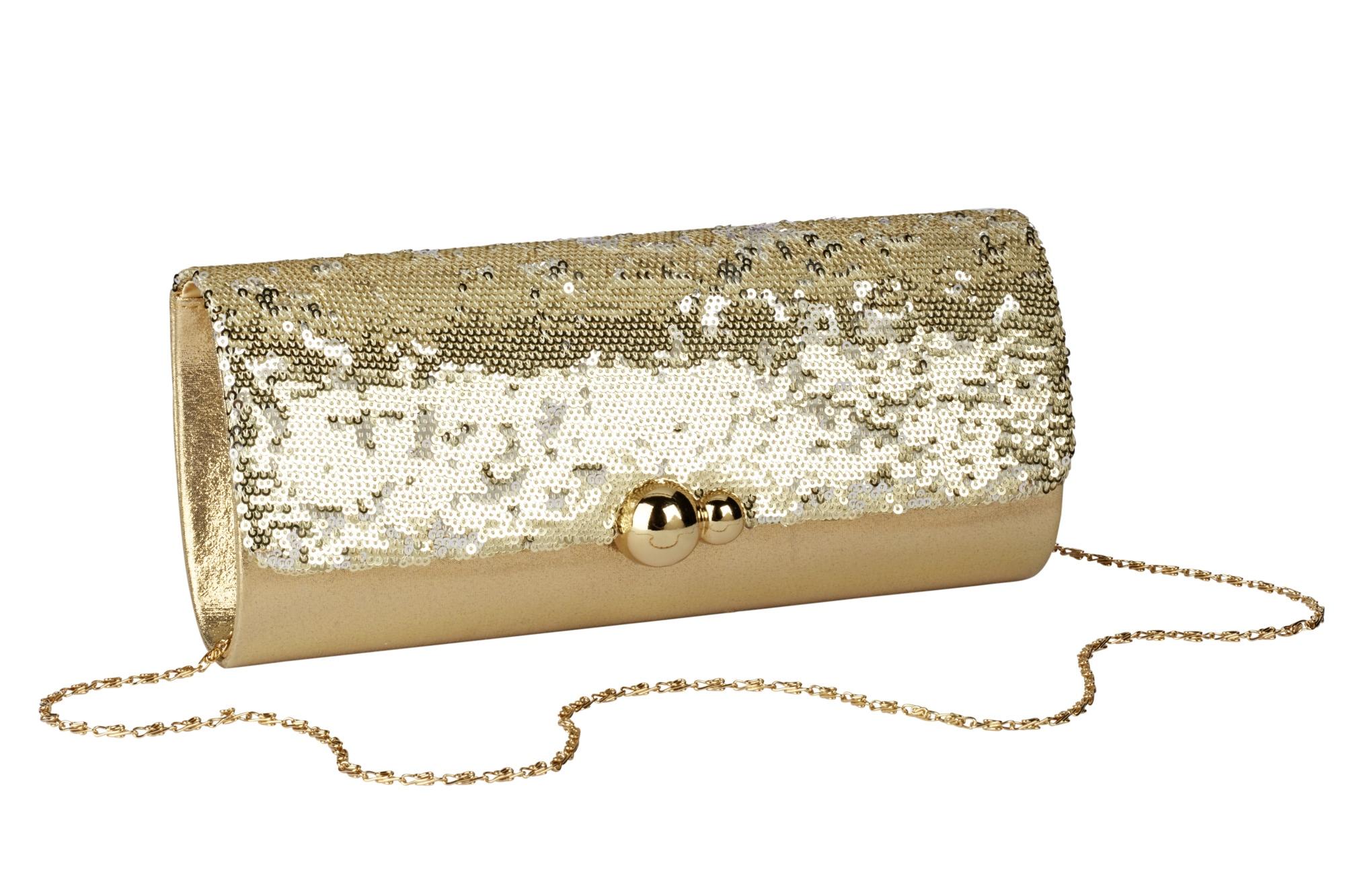 Heine Clutch mit Pailletten Damenmode/Schmuck & Accessoires/Taschen/Clutch & Abendtaschen