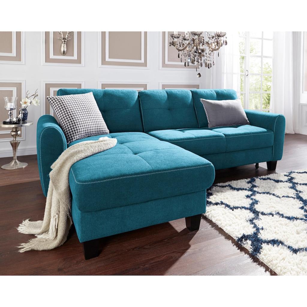 sit&more Ecksofa, mit Federkern, wahlweise mit Bettfunktion und Stauraum