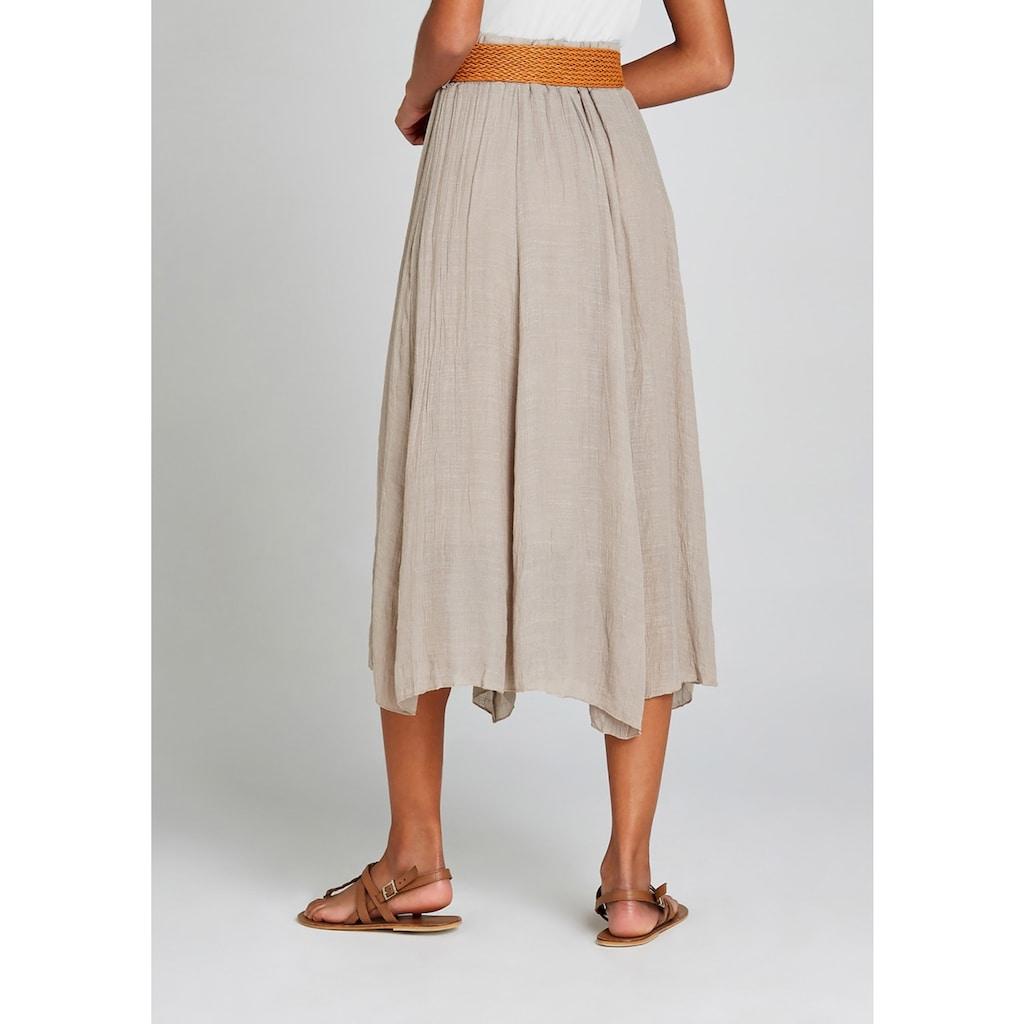 Apricot Crinklerock »Shimmer Crinkle Belted Skirt«, (mit abnehmbarem Gürtel), Mit Flechtgürtel