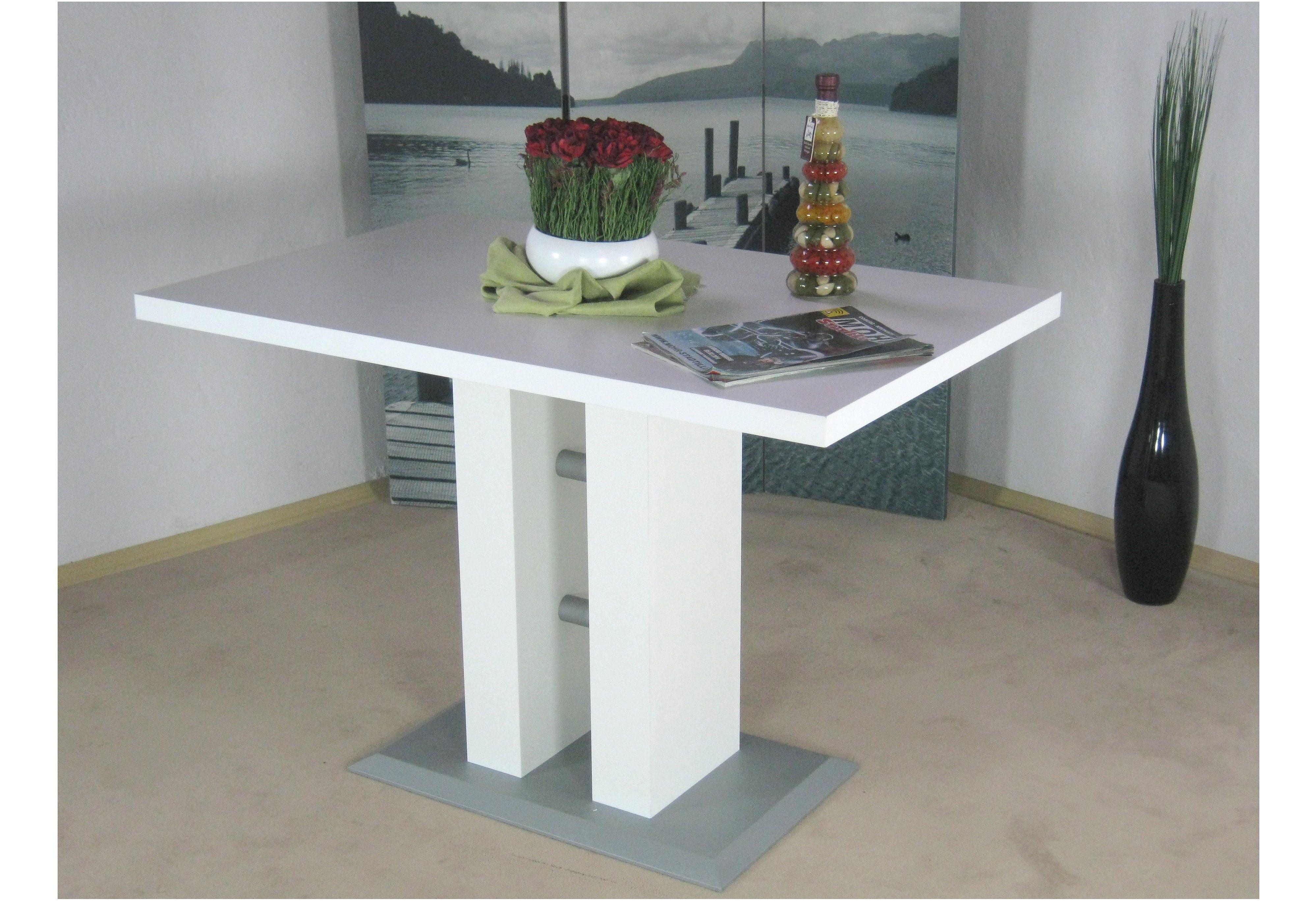 Säulen-Esstisch Luxor, Breite 110 cm braun Esstische quadratisch Tische