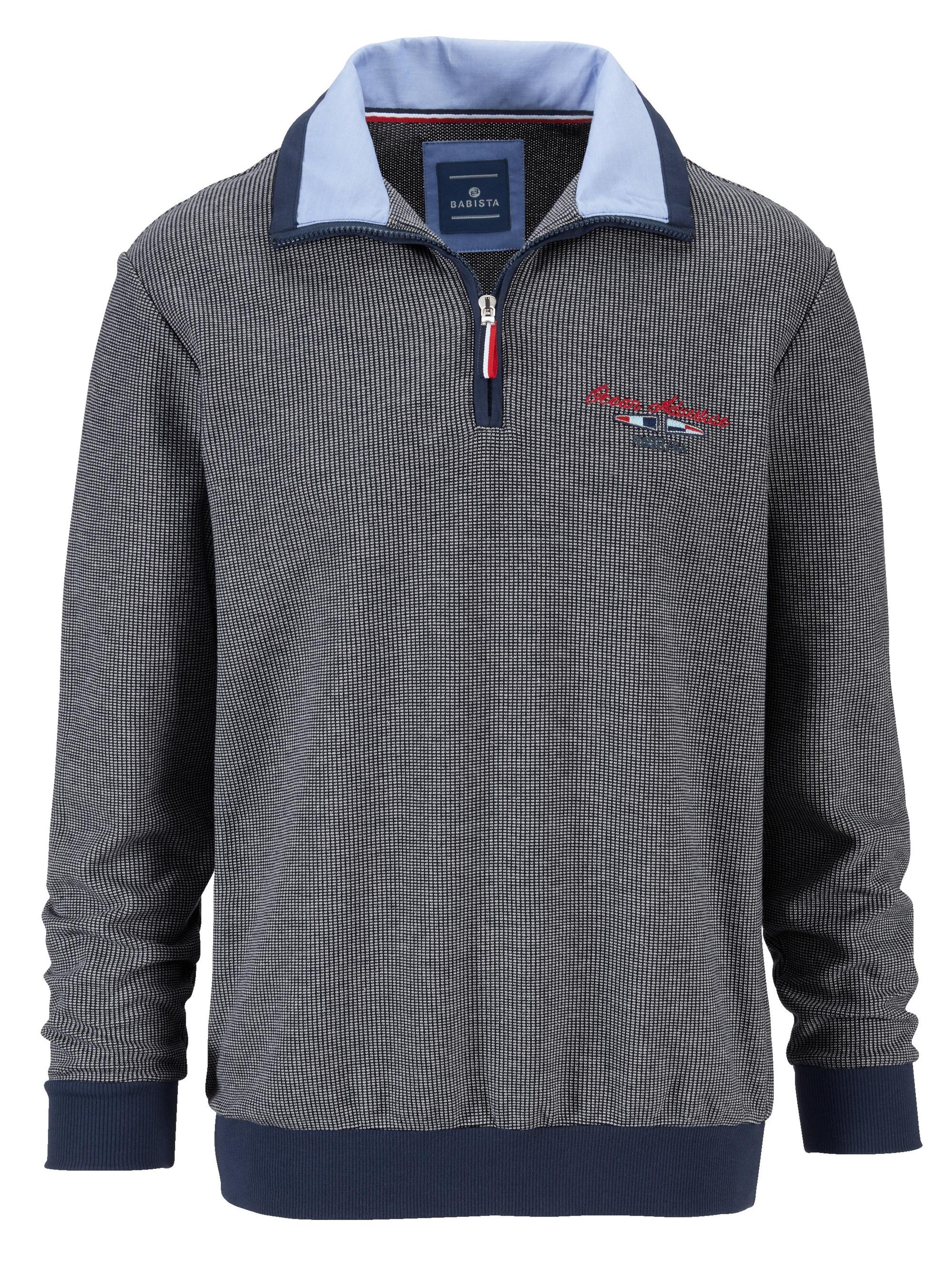Babista Sweatshirt in zweifarbiger Reiskorn-Optik Herrenmode/Bekleidung/Sweatshirts & -jacken/Sweatshirts