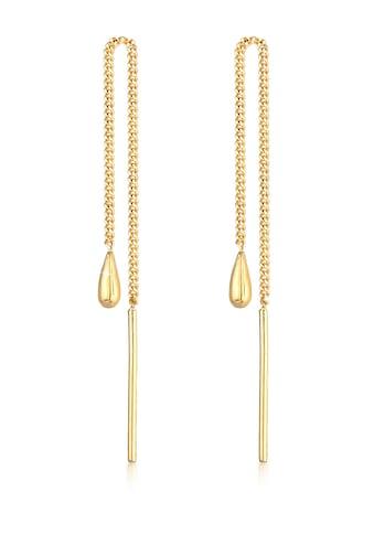 Elli Paar Ohrstecker »Tropfen Basic Durchzieher 375 Gelbgold« kaufen