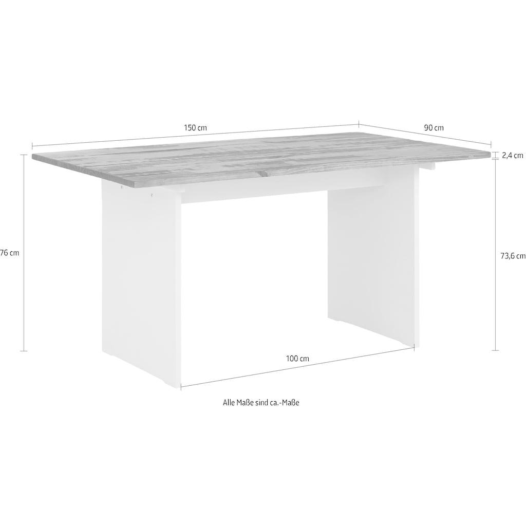 Home affaire Esstisch »Morgan«, aus massivem Kiefernholz, in zwei unterschiedlichen Tischbreiten erhältlich
