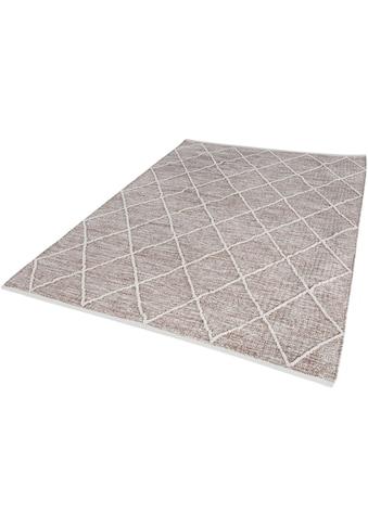 LUXOR living Teppich »Pantin«, rechteckig, 8 mm Höhe, Flachgewebe, reine Baumwolle, handgewebt, Rauten Design, Wohnzimmer kaufen