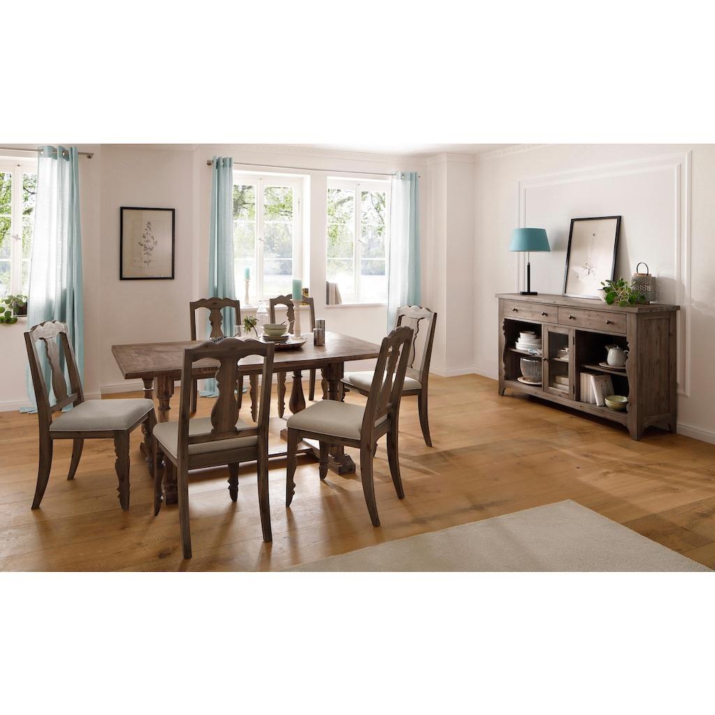 Home affaire Kulissen-Esstisch »Patchwork«, aus massivem Akazienholz, in 2 verschiedenen Größen erhältlich