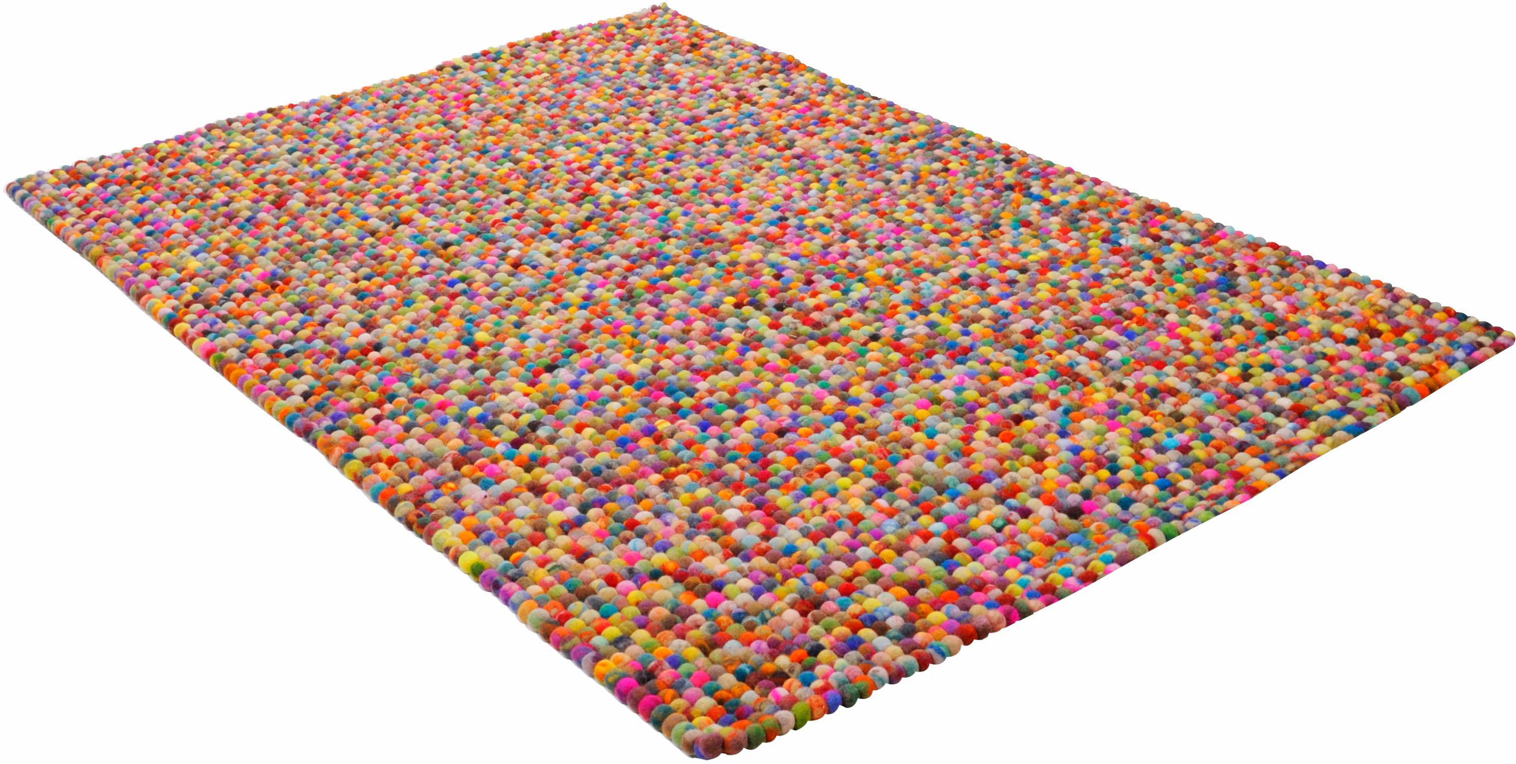 Wollteppich Ballo THEKO rechteckig Höhe 22 mm handgewebt